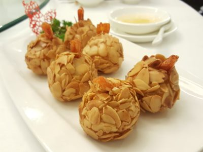 Joyden Canton @ Istean Scotts Offering An Array of Guangzhou Specialties At Its First Outlet In Town, Shaw Centre - Almond and Salted Egg Prawns with Lemon Sauce ($21)