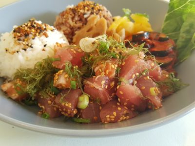 Alakai Poke At Everton Park Offering Original Hawaiian-style Made Fresh To Order Poke - Mixed Poke of Tuna and Salmon