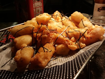 East Meets West Buffet At Makan @ Jen Of Hotel Jen Orchardgateway - Fish & Chips using Fried Dough Fritters closed-up