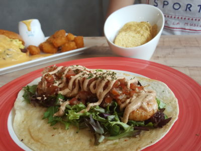Common Chefs Bistro At Jalan Legundi - Grilled Prawn Tacos ($12)