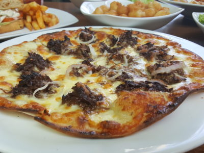 Toby's The Dessert Asylum, Family Oriented Cafe In The West At TradeHub21 - Stewed Pork Pizza ($15.90)