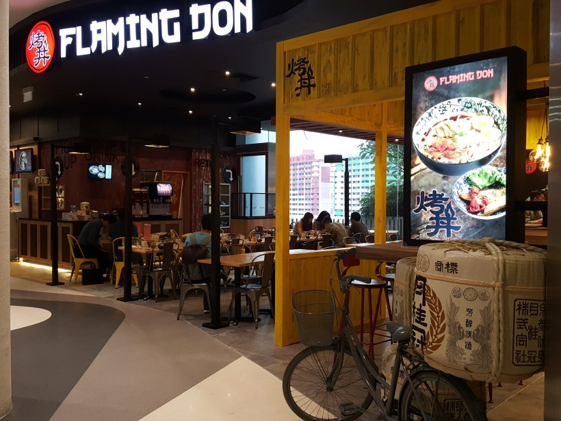 Flaming Don At Bugis Offering Value-For-Money Rice Bowls - Facade