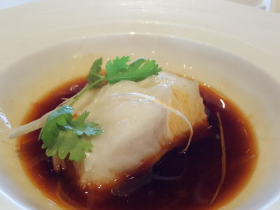 Shisen Hanten by Chen Kentaro 四川飯店 At Mandarin Hotel, A Two Michelin Star Restaurant - Steamed fish with spicy sauce