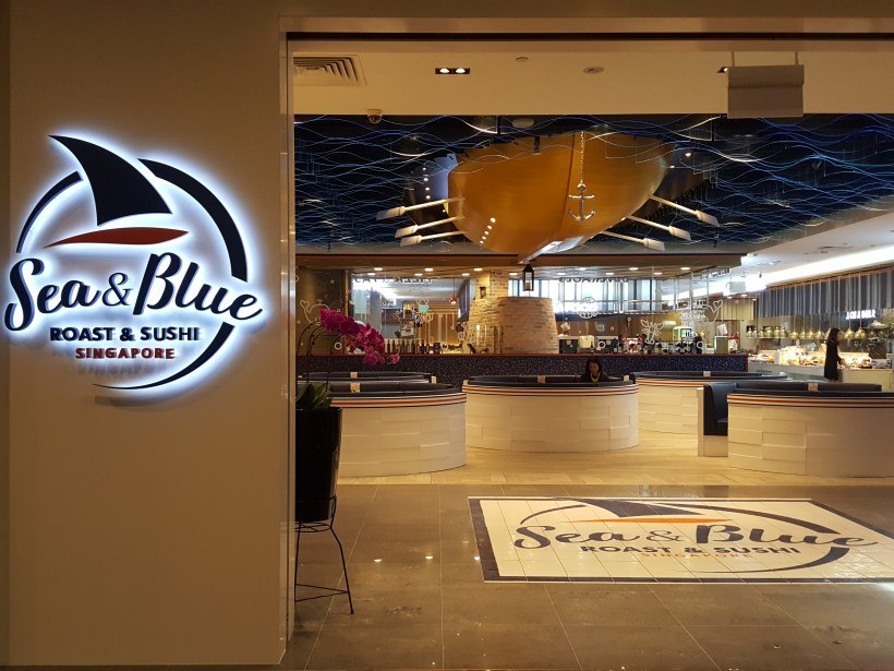 Sea And Blue Buffet Restaurant At Marina Bay Sands Offering Over 100 Dishes - Facade