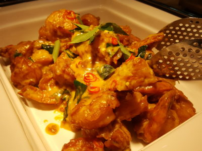 Sea & Blue Buffet Restaurant At Marina Bay Sands Offering Over 100 Dishes - Salted Egg Prawn