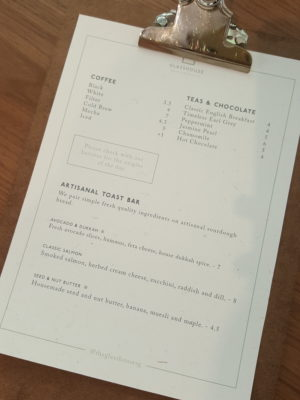 The Glasshouse Specialty Coffee & Toast Bar At Chijmes, Gorgeous Space - Menu