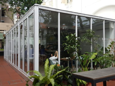 The Glasshouse Specialty Coffee & Toast Bar At Chijmes, Gorgeous Space - Facade of glasshouse