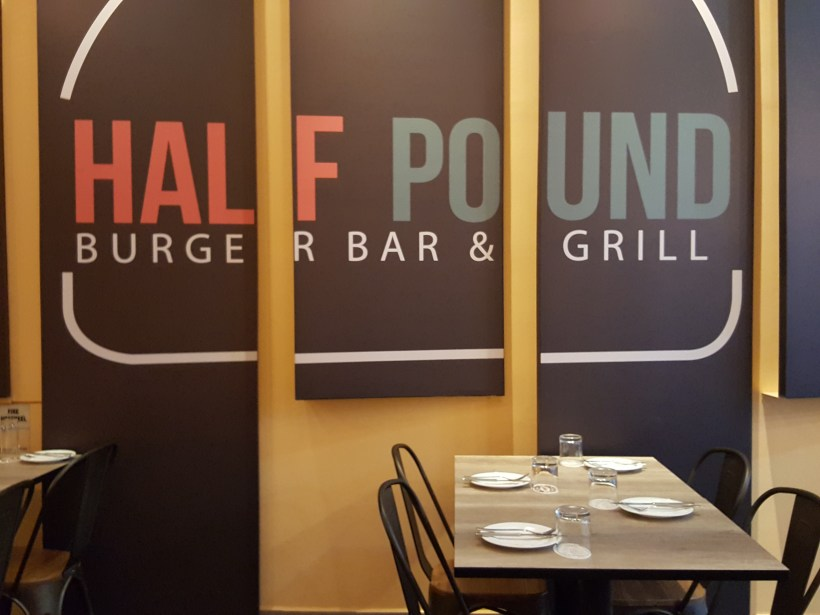 Half Pound Burger Bar & Grill At Purvis Street - Signage