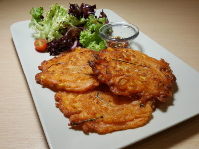 Food Lovers Only At IMM Serving Korean Fusion Items - Kimchi Pancake ($14.90)