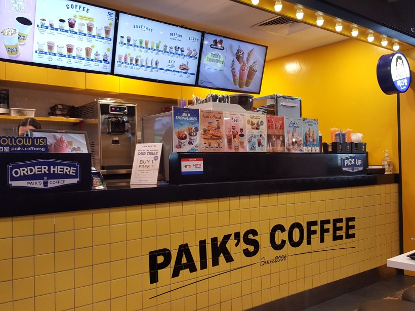 Paik Coffee, Value For Money Large Drinks And 1-For-1 Promotion - Counter