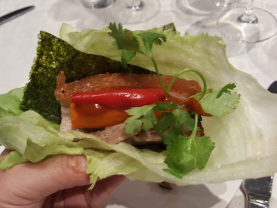 """Culinary Evening With Audra Morrice, Chef & Judge On MasterChef Asia At Singapore Marriott Tang Plaza Hotel - Wrapping the """"Sang Choi Bao"""""""