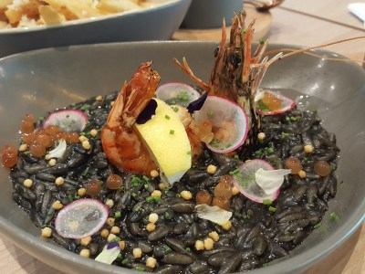 Kohi-Ya At Hillview Community Centre With A Japanese Vibes - Squid Ink Orzo Pasta ($18)