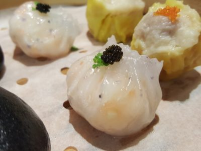 Mitzo Restaurant & Bar At Grand Park Orchard Hotel Dim Sum Lunch Set Menu And Signature Dish - Royal shrimp dumpling with black caviar