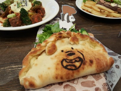 The Soup Spoon Union x Cartoon Network Cafe At Punggol Waterway Point Featuring Powerpuff Girls, Ben 10, Adventure Time and We Bare Bears - Pan-Pan Calzone ($10.90)