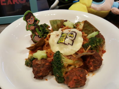 The Soup Spoon Union x Cartoon Network Cafe At Punggol Waterway Point Featuring Powerpuff Girls, Ben 10, Adventure Time and We Bare Bears - Ben10's Meatball Spaghetti ($15.90)