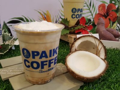 Paik's Coffee Korean Smoothies, Launched Three New Flavours Available At All Outlets - Coconut Coffee Smoothie ($5.50)
