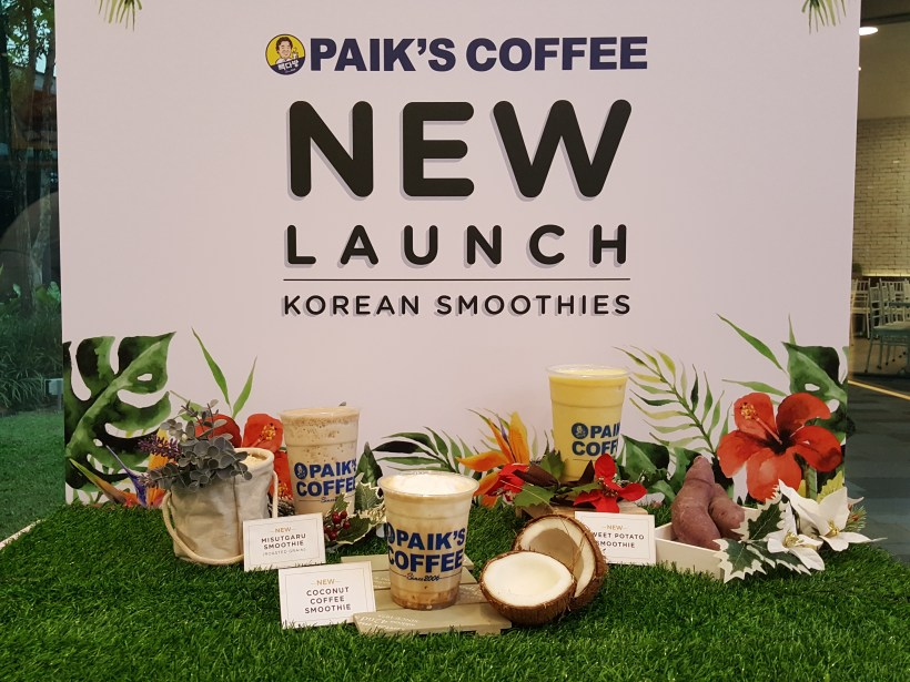 Paik's Coffee Korean Smoothies, Launched Three New Flavours Available At All Outlets - Paik's Coffee Korean Smoothies