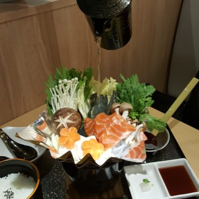 Misato , An Unpolished Gem Hidden At Centrepoint, Gastro+ - Seafood Kaminabe Set, Pouring soup