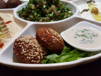 Urban Bites, Lebanese Restaurant New Chef Curated New Dishes With A Twist - Sampler Platter, falafel patties