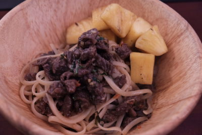 Meat Market Offering Quality Wood-Fire Grilled Meat At Heartland, Hougang 1 - Salted Egg Thai Beef Aglio Pasta ($12.90)