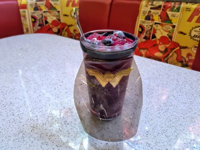 DC Comics Super Heroes Cafe Singapore Opens 2nd Outlet at Ngee Ann City - Wonder Woman Royalty Berry Juice (S$12.90++)