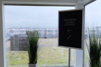Paris Charles de Gaulle Airport Star Alliance Business Class Lounge -Signage leading to Business Class Lounge