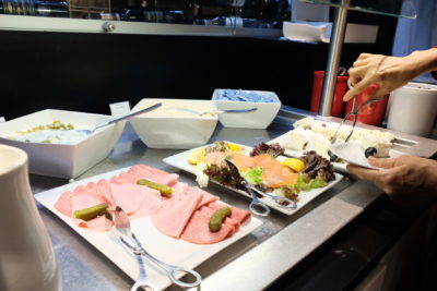 Star Alliance Business Class Lounge at Paris Charles de Gaulle Airport - Cold Cuts & Cheese
