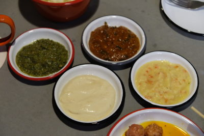 alittle tashi Offering Communal Dinning Dishes With Array Of Sauces At Tyrwhitt Road - Sauces