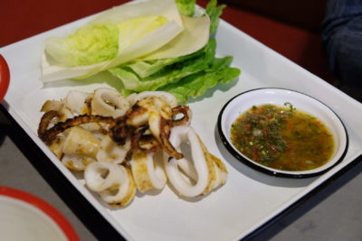 alittle tashi Offering Communal Dinning Dishes With Array Of Sauces At Tyrwhitt Road - Squid ($20)