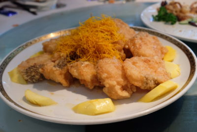 Min Jiang At One North Lunar New Year Luncheon - Deep fried Sea Perch with Fresh Mango and Plum Sauce