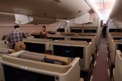 Business Class On A380 Singapore Airlines, SQ336 From Singapore To Paris - View from the back