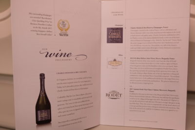 Business Class On A380 Singapore Airlines, SQ336 From Singapore To Paris - Wine Menu