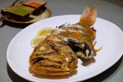The Chinese Kitchen 厨神私房菜 At Cavan Road, Whipping Extremely Delicious Dishes - Charcoal Grilled Orang Sea Perch, Sea Salt & Spices ($62)