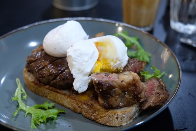 Little Farms Cafe At Valley Point Dishing All Day Breakfast & Brunch Using Fresh Produce - Cape Grim Steak & Eggs ($24)
