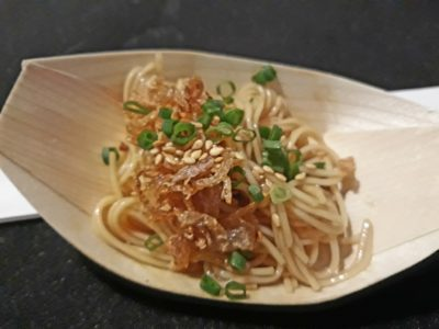 World Gourmet Summit (WGS) 2018 Opening Reception & Awards of Excellence (AOE) Presentation Ceremony - Cold Somen Noodles with shallot vinegar/spring onion/sesame