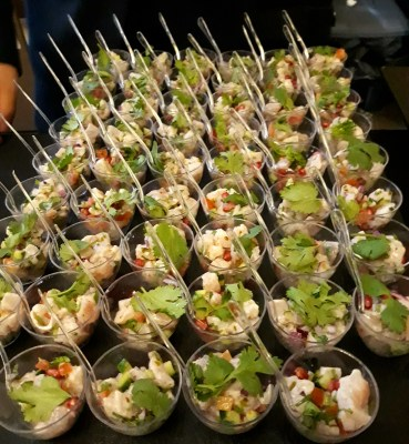 World Gourmet Summit (WGS) 2018 Opening Reception & Awards of Excellence (AOE) Presentation Ceremony - Kuhlbarra Barramundi Ceviche with lime/pomegranate/coriander