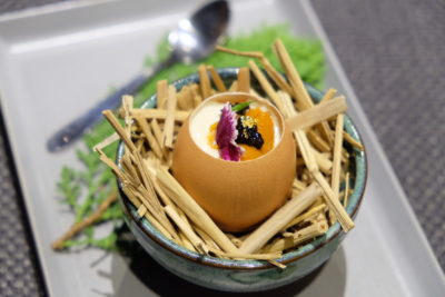 Saucy x Caffe B Special Collaboration With Uni Love At Club Street - Sous Vide Egg with Uni