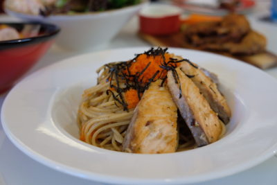 Ta-Da! The Bistro At Manualife Centre With Chef Formerly From Joel Robuchon - Salmon and Ebiko Pasta ($18)