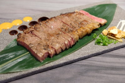 En Sushi At Prinsep Street Offering Reasonable Price Range Japanese Food - Sliced Beef Steak ($14.90 - 100g / $28.90 - 200g)