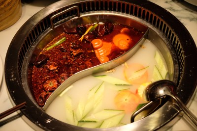 Spice World Hot Pot, A Tough Competitor For Haidilao At Clarke Quay - Yuanyang Soup
