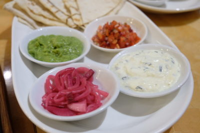 Tortilla Wraps at Singapore Marriott Tang Plaza Hotel Cross Road Cafe - Sauces for Spanish Rice & Kidney Beans Wrap