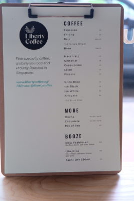 Liberty Coffee At Jalan Besar, For The Coffee Connoisseur - Drink Menu