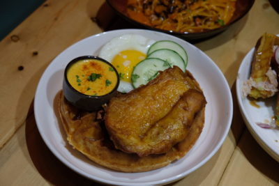 Waffelicious And Spicy Moment At Montana Singapore Located At POMO - Nasi Lemak Waffle ($15.50)