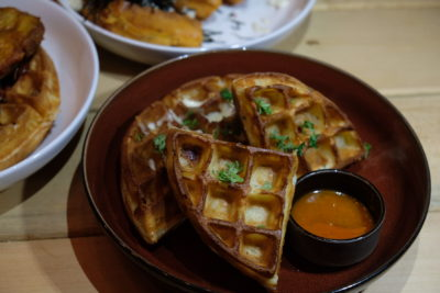 Waffelicious And Spicy Moment At Montana Singapore Located At POMO - Signature Mac & Cheese Waffle ($13.80)