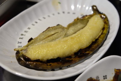 The Hungry Caveman At Orchard Central, Good Review For BBQ In Dianping Shanghai - Grilled Banana ($2)