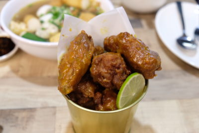 Makanista At Tampines Mall, A Food Court Offering Local Food With A Local Twist - Spicy Honey Mustard Wings ($7.50)
