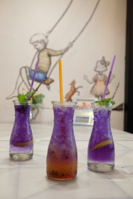 """Good Old Days Bistro At Beach Road With Playful Interior - """"Galaxy"""" Home-made Cold Brew Tea ($7.50)"""