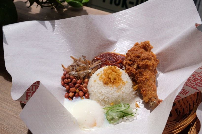 Village Nasi Lemak Bar At Circular Road Raise The Bar With Truffle Egg - Salted Egg Chicken Drumstick