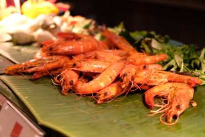 Ginger At PARKROYAL On Beach Road Dishing Pincer Feast - Grilled Prawns