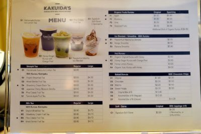 K For Kakuida's And For Kurozu Is At Icon Village With Delicious And Yet Healthy Donut & Drinks - Menu